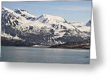 Alaskan Mountain Seaside Greeting Card