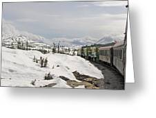 Alaskan Trainride Greeting Card