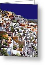 alba a Santorini Greeting Card by Guido Borelli