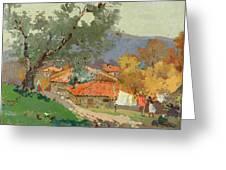 Albanian Countryside Greeting Card