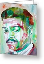 Albert Ayler - Watercolor Portrait Greeting Card