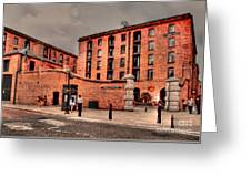 Albert Dock A Different View Greeting Card