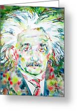 Albert Einstein Watercolor Portrait.1 Greeting Card