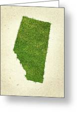 Alberta Grass Map Greeting Card by Aged Pixel