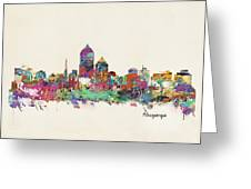 Albquerque New Mexico Skyline Pillow Greeting Card