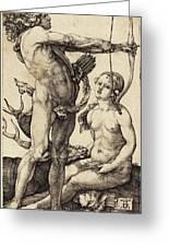 Albrecht Dürer German, 1471 - 1528, Apollo And Diana Greeting Card