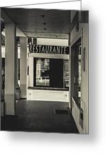 Albufeira Street Series - Restaurante Greeting Card
