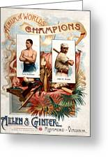 Album Of Worlds Champions Greeting Card