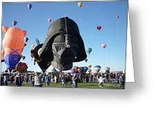 Albuquerque International Balloon Fiesta With Darth Greeting Card