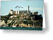 Alcatraz Blues Greeting Card