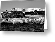 Alcatraz Federal Prison Greeting Card by Benjamin Yeager