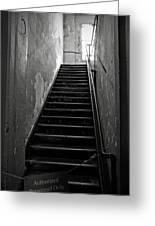 Alcatraz Hospital Stairs Greeting Card