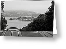Alcatraz Island From Hyde Street In San Francisco Greeting Card