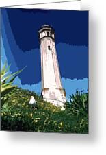 Alcatraz Lighthouse Greeting Card