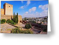 Alcazaba In Granada Greeting Card