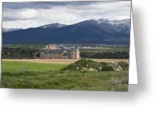 Alcazar Against The Mountains Greeting Card
