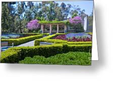Alcazar Garden Vibrant Color Display Balboa Park Greeting Card