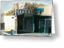 Alderman Drugs Greeting Card