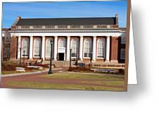 Alderman Library At Uva Greeting Card