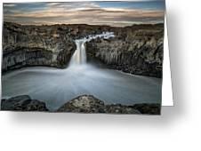 Aldeyjarfoss Waterfall North Iceland Greeting Card