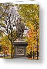Alexander Hamilton Statue Greeting Card by Joann Vitali