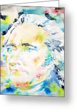Alexander Hamilton - Watercolor Portrait Greeting Card