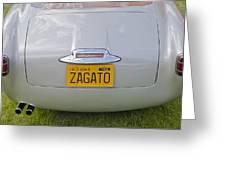 Alfa Romeo 1900 Ss Zagato Berlinetta 1956 Greeting Card