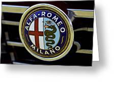 Alfa Romeo Badge Greeting Card