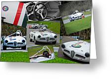 Alfa Romeo Milano Collage Greeting Card