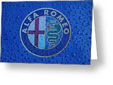Alfa Romeo Rainy Window Visual Art Greeting Card