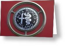 1961 Alfa Romeo Giulietta Sprint Veloce Series II Emblem -1045c Greeting Card