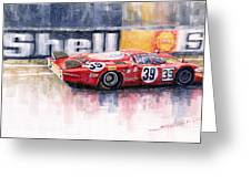 Alfa Romeo T33 B2 Le Mans 24 1968 Galli Giunti Greeting Card