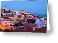 Alfama Rooftops Greeting Card
