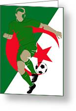 Algeria Soccer Player2 Greeting Card