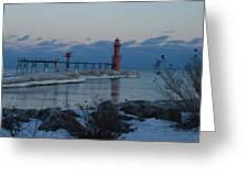 Algoma Lightohouse In The Early Evening Greeting Card
