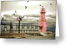 Algoma Pierhead Lighthouse Greeting Card