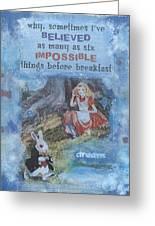 Alice Dream Greeting Card