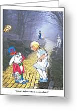 Alice Lost Greeting Card