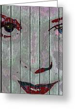 Alice On The Fence Greeting Card