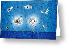 Alien Blue Greeting Card