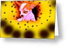 Alien Chihuahua Greeting Card