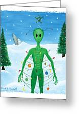 Alien Christmas Out Of This World Greeting Card by Kristi L Randall