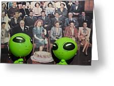 Alien Nostalgia Greeting Card