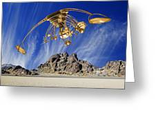 Alien Probe Over Area 51 Greeting Card