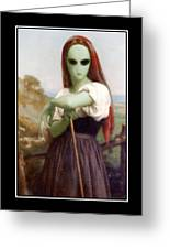 Alien Shepherdess Greeting Card