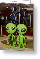 Aliens And Whatamacallit Greeting Card
