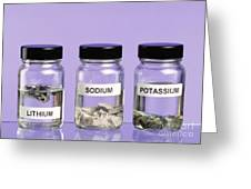 Alkali Metals In Jars Greeting Card