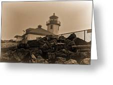 Alki Lighthouse Greeting Card