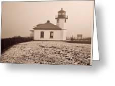Alki Point Lighthouse Greeting Card