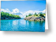 All About Aqua Greeting Card